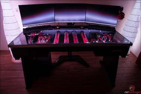 Ultimate Gaming Desk cross desk, the ultimate gaming desk   technology   pinterest