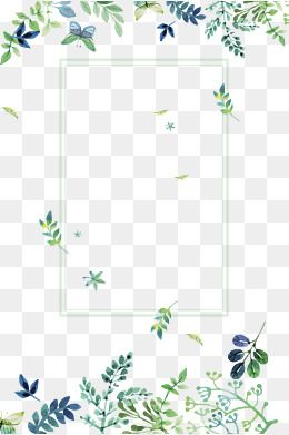 2020 的 Small Fresh Green Flowers Border Texture Png Free Download