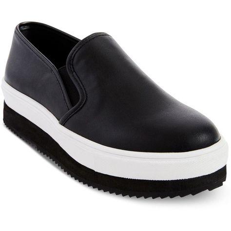 5a3de140d59 Steve Madden Women s Slick Slip-On Platform Sneakers (595 GTQ) ❤ liked on