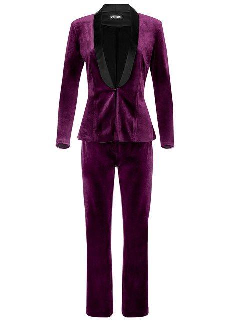 Ladies Purple Pantsuit