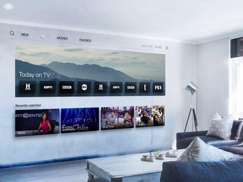 Digital Wall in Living Room