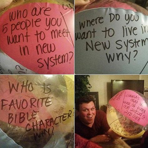 """@boomariah shares with us: """"We took the idea from the video last week on throwing around a beach ball with different questions on it for family worship. It was fun to do something different!"""" by jw_witnesses"""