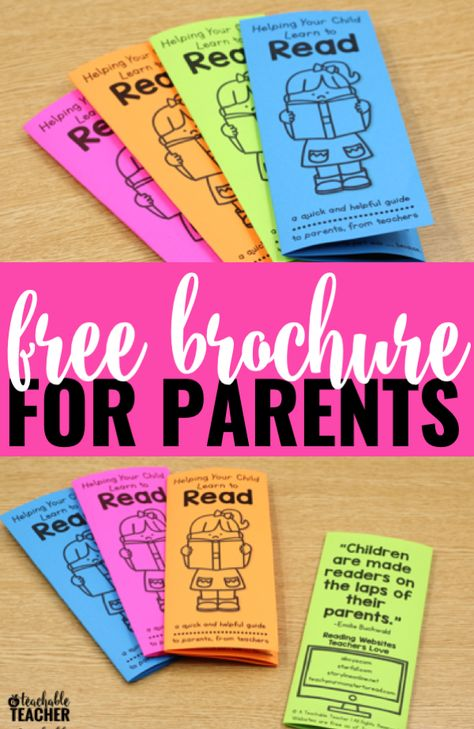 FREE Reading Tips Brochure - to Parents from Teachers