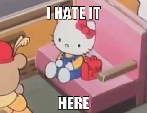 35 images about Sanrio on We Heart It Really Funny Memes, Stupid Funny Memes, Funny Relatable Memes, Haha Funny, Meme Stickers, Snapchat Stickers, Likes Youtube, Response Memes, Current Mood Meme
