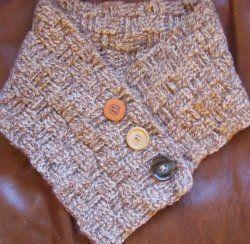 Basket Weave Crochet Neck Warmer free #crochet pattern