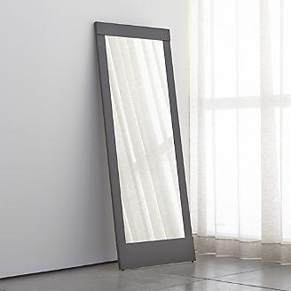 Floor Wall And Over The Door Mirrors Crate And Barrel Floor Mirror Modern Floor Mirrors Over The Door Mirror