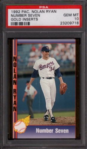 1992 Pacific Nolan Ryan Gold Inserts Number Seven Hof Psa 10