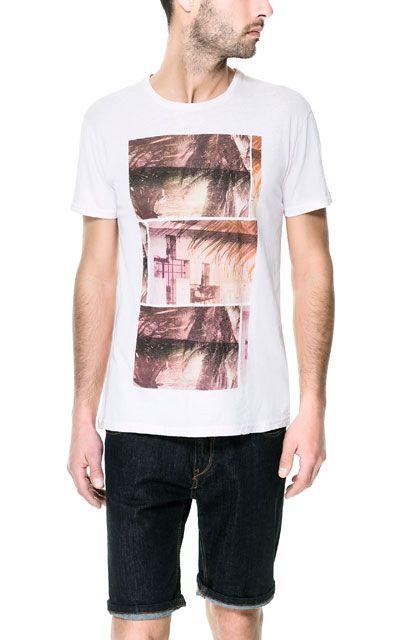 T Shirt Mit Print Kollektion Herren Neue Kollektion Zara Deutschland Zara Man Mens Tops T Shirt
