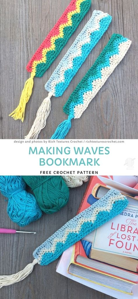 These simple, textured bookmarks are really special and sweet - you'll make them in no time and you can easily wash. Play with the colors and make your own, special one. Lovely as a gift! Crochet Gifts, Crochet Yarn, Crochet Hooks, Free Crochet, Easy Crochet Bookmarks, Knitting Projects, Crochet Projects, Tatting Tutorial, Tutorial Crochet
