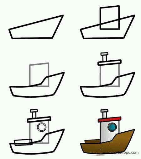 Kolay Tasit Cizimlerimiz Drawing Lessons Tekne Cizim
