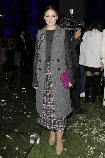 Olivia Palermo Salvatore Ferragamo - Here's What Celebs Wore to Sit Front Row This Fashion Week - Photos