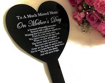 Mothers Day Gift Memorial Plaque Grave Marker Remembrance Gift