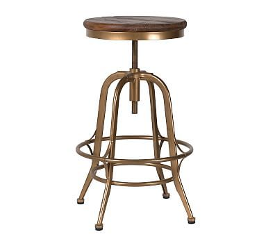 Leary Reclaimed Wood Counter Stool Adjustable Stool Counter Stools Wood Counter Stools