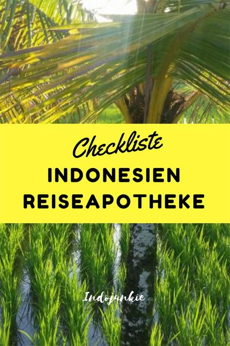 Du planst eine Indonesien Reise? Dann sollte in dein Gepäck auch definitiv ein gutausgestattete Indonesien Reiseapotheke mit! Damit du für alle Fälle vorbereitet bis. Hier 5 Hinweise, was alles mit auf eine Indonesien Backpacking Reise in die Apotheke muss. Mit Checkliste! #indonesienreisevorbereitunge #indonesienapotheke #indonesienreiseapotheke #indonedienpackliste
