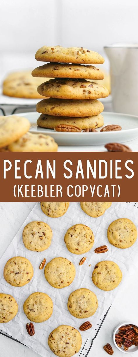 Easy to make, deliciously buttery Pecan Sandies copycat cookies #cookies #cookieexchange #pecancookies #pecansandies