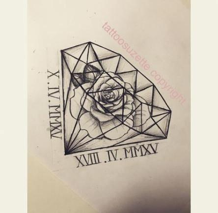 New Tattoo Old School Diamond Ink Ideas Rose Tattoo Ideen Falsche Tattoos Tattoo Krone