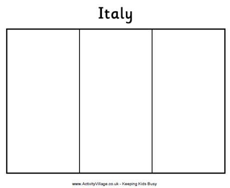 Geography for Kids: Italy flag coloring page