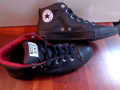 0323ee4ba168 Converse CTAS Street Mid Almost Black Red Shoes 160298C Men 9 Women 11  Sneakers  Converse  BasketballShoes