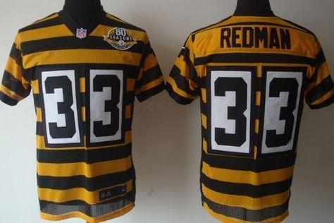 fdb6b0ddfa2 ... Nike Pittsburgh Steelers 33 Isaac Redman Yellow With Black Throwback  80TH Jersey Pittsburgh Steelers jerseys Pinterest ...