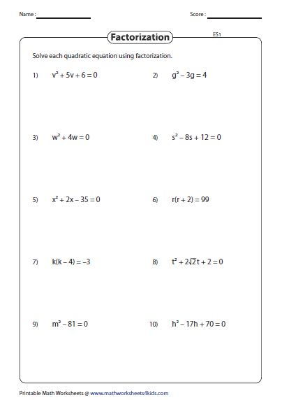 This assortment of 171 worksheets is based on quadratic ...