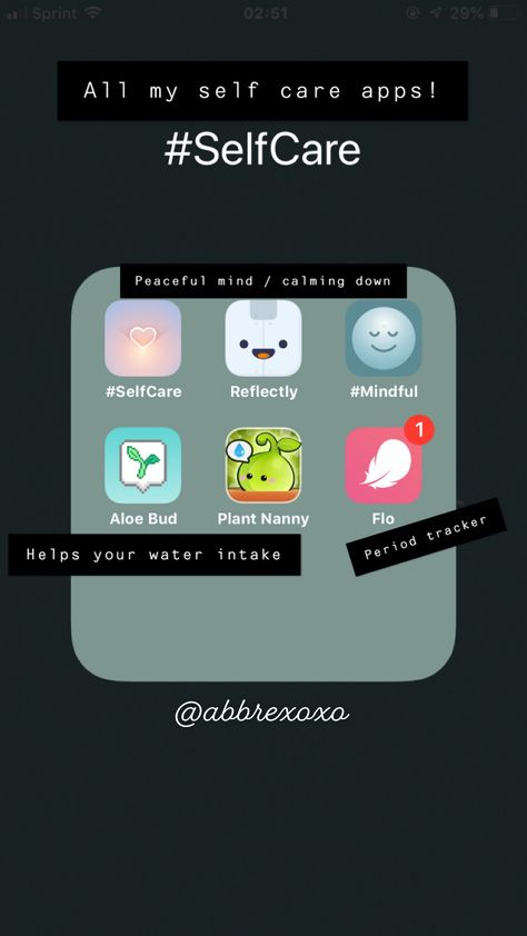 #selfcare Apps