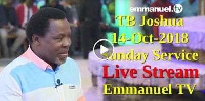 T B  Joshua LIVE Sunday Service 14-10-2018 At The SCOAN - Emmanuel