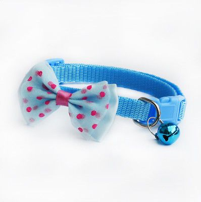 ca0438d62 Find great deals for Pet Bowknot Necktie Collar Cute Bow Tie Bell Kitten  Puppy Adjustable Dog Cat 1Pc. Shop with confidence on eBay!