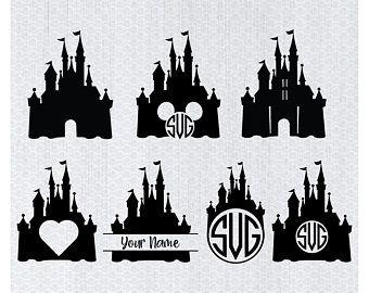 Disney Castle Svg Bundle Disney Castle Clipart Castle Svg Png Princess Clipart Disney Castle Silhouette Castle Silhouette Disney Castle