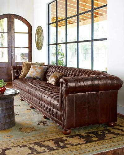 Old Hickory Tannery Executive 131 5 L Chesterfield Sofa Furniture Design Old Hickory Tannery Tufted Leather Sofa