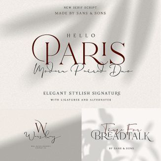 Hello Paris Font Duo | FONTS for FREE! | Fonts, Free, Logos