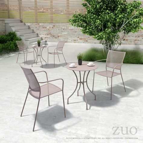 Zuo Modern Cosmopolitan Armchair Frame Brushed Aluminum