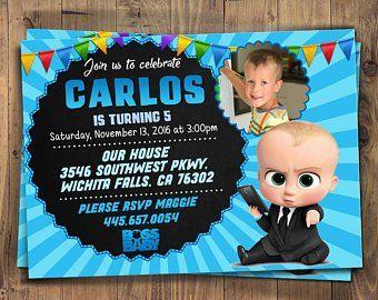 Baby Boss Invitation Etsy Invitaciones De Bebe Bebe Jefazo Cumpleanos Del Bebe