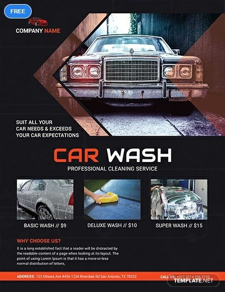 Free Car Wash Business Flyer Template Word Doc Psd Apple Mac Pages Illustrator Publisher Car Wash Business Car Wash Mobile Car Wash