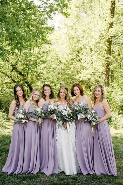Look at the Jenny Yoo Inesse Bridesmaid Dress in 'Lilac' to recreate this gorgeous spring wedding look. Look at the Jenny Yoo Inesse Bridesmaid Dress in 'Lilac' to recreate this gorgeous spring wedding look. Light Purple Bridesmaid Dresses, Bridesmaid Dresses Online, Wedding Bridesmaid Dresses, Wedding Gowns, Pageant Dresses, Bride Maid Dresses, Party Dresses, Bridal Dresses, Light Purple Wedding