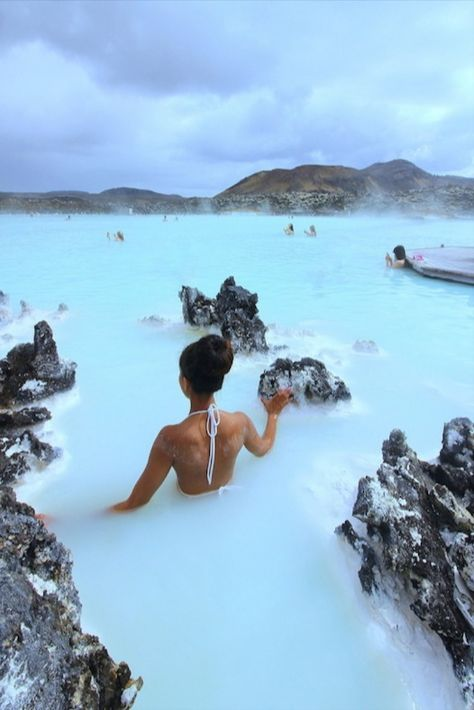 "The Blue Lagoon, Iceland. Blue Lagoon, Iceland ""The Blue Lagoon is among the wonders of the world! It truly is an experience of a lifetime to soak in steaming blue waters surrounded by volcanic rocks! Vacation Places, Dream Vacations, Dream Vacation Spots, Romantic Vacations, Oh The Places You'll Go, Cool Places To Visit, Beautiful Places To Travel, Travel Aesthetic, Adventure Aesthetic"