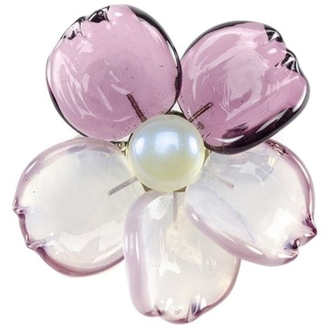 b3a9531ae33 Pre-owned Chanel Camellia Flower Glass Brooch ($560) ❤ liked on Polyvore  featuring jewelry, brooches, accessories, purple, purple jewelry, ...
