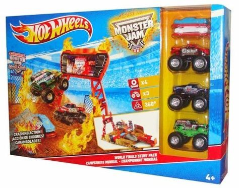 Hot Wheels Monster Jam Stunt Stadium World Finals Stunt Set Hot Wheels Monster Jam Monster Jam Hot Wheels