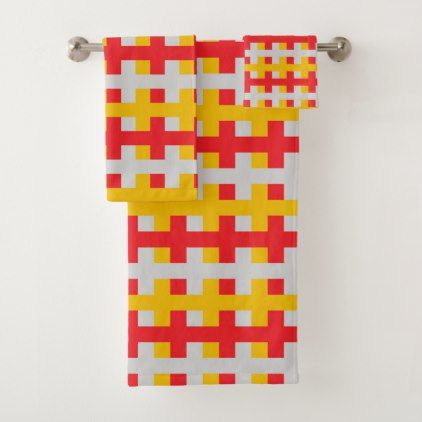 Abstract Red Silver And Gold Bath Towel Set Zazzle Com Towel