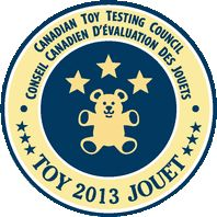 Thanks to the #CanadianToyTestingCouncil for their top award- three star rating!
