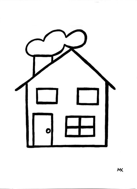 Kleurplaten Van Een Nieuw Huis.Kleurplaat Huis Google Zoeken Kleurplaten Huizen En