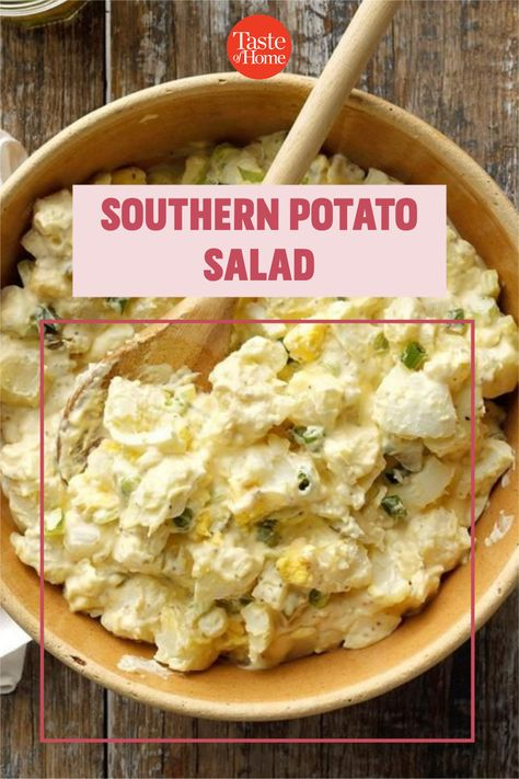 This potato salad with a southern twist is perfect for a church supper or potluck. The pickles add extra sweetness. —Gene Pitts, Wilsonville, Alabama