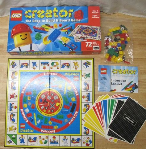 2 Lego Creator The Race To Build It Board Game Incomplete Afflink
