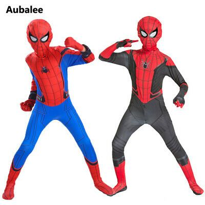 Halloween 2020 Eventos Details about Spider Man Far From Home Costume Kid Child Avengers