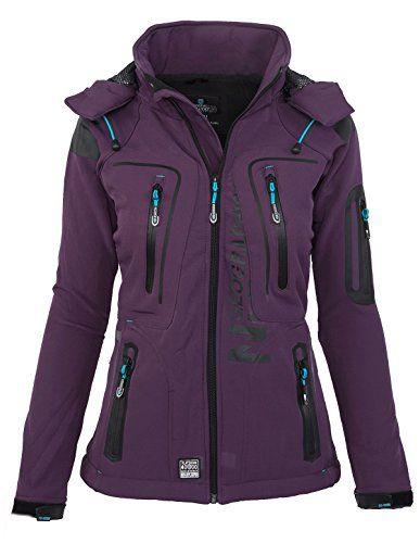 Geographical Norway Vaasai Lady Chaqueta Funcional al Aire Libre para Mujer Softshell Jacket