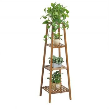 High Density Flower Pot Stand Bamboo Plant Stand Wooden Plant