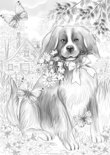 8400 Coloring Pages Of Flowers And Animals For Free
