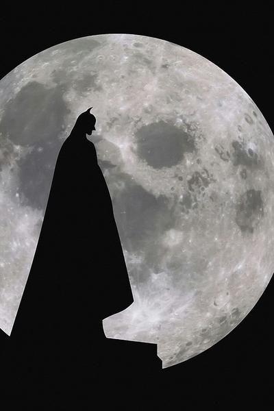Batman Moon Movie Poster Batman Wallpaper Batman Hd Wallpaper