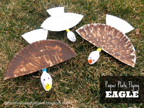 Relentlessly Fun, Deceptively Educational: Paper Plate Flying Eagle