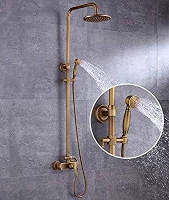 Sccot Shower Faucet Set Vintage Luxury Brass Shower System