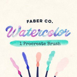 Download This Free Procreate Watercolor Brush On Faber Co Website